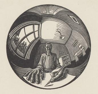 Escher in glazen bol